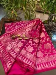 Wedding Banarasi Silk Handloom Saree With Blouse Piece
