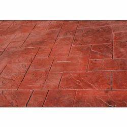 Colored Stampcrete Flooring Service