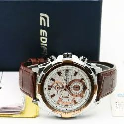 Leather Casio Edifice Brown Watch