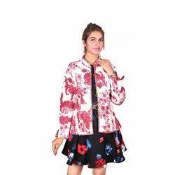 Floral Multicolor Full Sleeve Party Wear Ladies Kantha Cotton Jackets, Size: S M L XL XXL