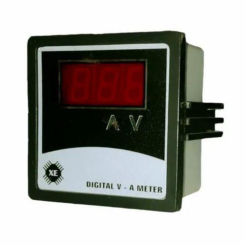 Xcellent Mild Steel Digital Voltage Ampere Meter