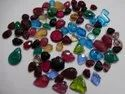 Pink Stone Synthetic, Glass Round Carving, Carved Fancy Shape Calibrated Loose Gemstone Pairing Set