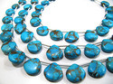 Sky Blue Oyster Turquoise Heart Shape Beads