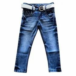 Party Wear Stretchable Kids Faded Denim Jeans, Size: 22-40 Inch