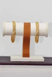 Golden Antique Hr-701 Artificial Bangle Set