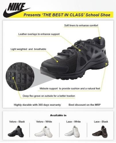 2a59c6e4733 Unisex - Velcro Black Or White Nike Revolution 2 School Shoes - Velcro (8C-