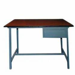 Steel Office Table / MS Table / Table With Shelf Storage
