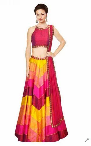 0ffed87243 Multicolor raw silk Printed Lehenga Choli at Rs 1799 /piece ...