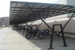 A Type Polycarbonate parking Shed Fabrication, in Delhi Ncr, Sunlights