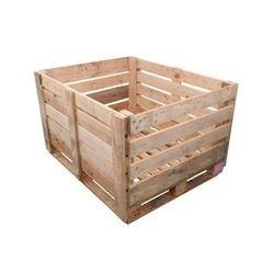 Cream Square Wooden Pallet Box, For Product Storage