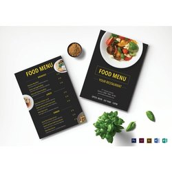 Custom Colors 5 - 7 Working Days Menu Card Designing Services, Size: Custom Sizes