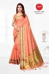 Silk Cotton Check Saree