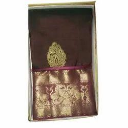 Ladies Party Wear Polyester Silk Saree
