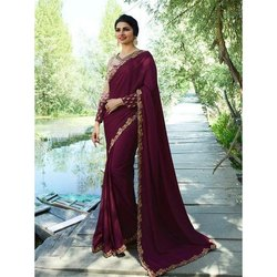 Pransul Fashion Ladies Fancy Silk Saree, Length: 5.5 m separate blouse piece