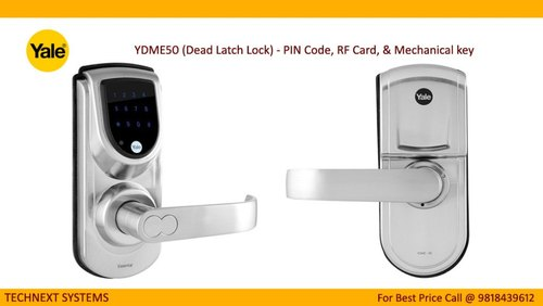 Yale Digital Door Lock Ydme50 (dead Latch Lock) Pin Code, Rf Card, &  Mechanical Key