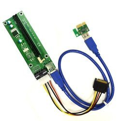 Riser Card PCIe PCI-E x1 to x16 USB3.0 Extender Cable