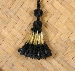 Black Beaded Tassel