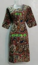 Kalamkari Cotton Straight Cut Kurti