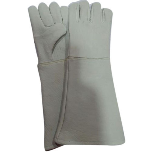 Plain Long Goat Leather Gloves