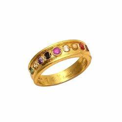 Round Navratan Ring