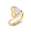 Heart Shape Cluster Diamond Ring, 4.70 Grams