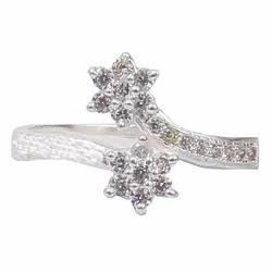 Female Silver Artificial Diamond Ring