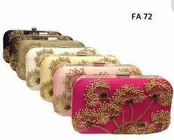 Female Handmade Beautiful Embroidered Box Clutch FA 72