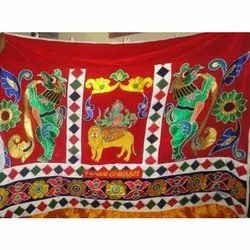 Embroidered Printed Designer Cotton maharatham Cloth, for Decoration, Size: 4.5*3 M
