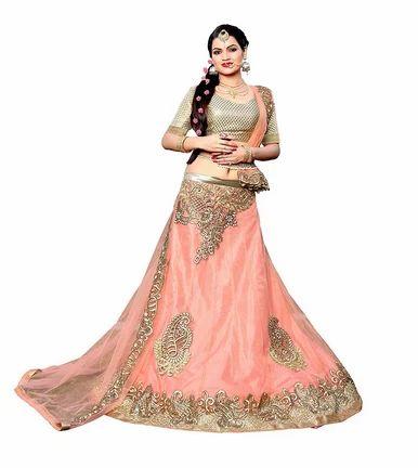 ff456b70473 C Stylish Pink Embroide Lehenga Choli