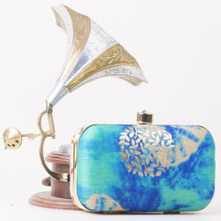 Beautiful Raw Silk Clutch Bag