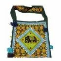 Canvas Beach Bag with Embroidery and Sequins