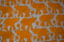 Indian Hand Block Printed 100 % Cotton Fabric Sanganeri Animal Print