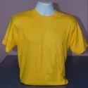Yellow Round Neck T Shirt