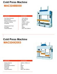 Wood Cold Press Machine