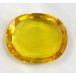 Natural Yellow Color Natural Unheated and Untreated Yellow Sapphire Certified By Gii