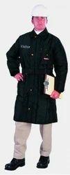 Black Poly Cotton Coats