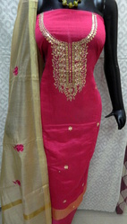 Pink Gota Patti Work Suit