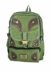 Dark Green School Bag