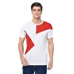 Vimal Jonney Cotton Blended Regular Sleeve Crew Neck fashion style White Color T-Shirt For Men's