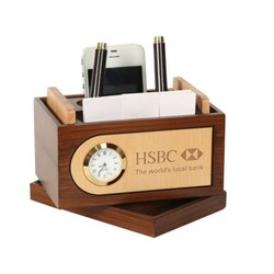 Multi Utility Wooden Desktop Organizer