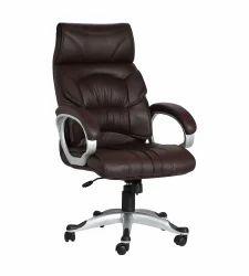 Double Cushion Doblepiel Executive High Back Brown Chair