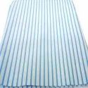 """58-60"""" White With Blue Strip Cotton Striped Shirting Fabric, For Shirts, Gsm: 120"""