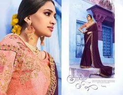 Stylish Purple Ethnic Designer Sarees