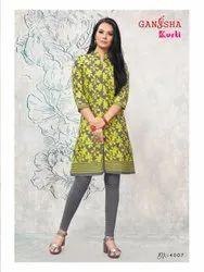 Cotton 3/4th Sleeve Ganesha Kurti, Wash Care: Machine wash