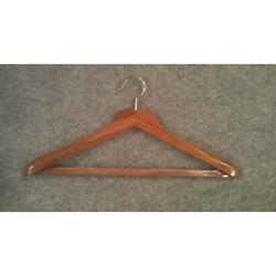 Wood, Stainless Steel Coat Hanger