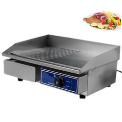 Half Grooved Hot Plate Grill Machine