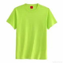 Cotton Plain green t-shirts