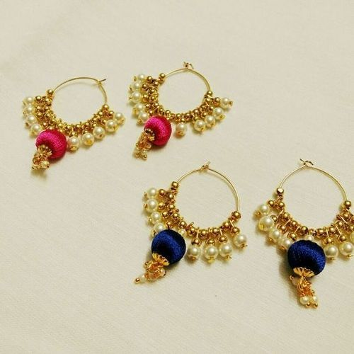 silk thread earrings at rs 300 silk thread earrings id