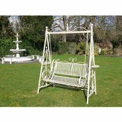 Patel Garden Jula White Garden Iron Swing