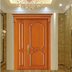 Interior Hinged Teak Wood Double Door